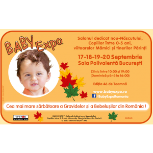 targ septembrie. Joi, 17 Septembrie incepe BABY EXPO!
