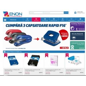 Aparitia magazinului online Zenon.ro pe piata produselor de papetarie si birotica.