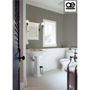 Idei de decorare pentru baie și bucătărie: tapet uni