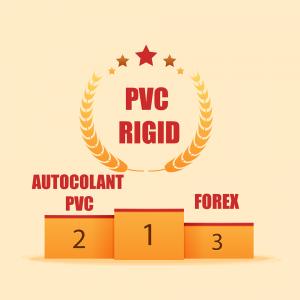 autocolant. PVC rigid