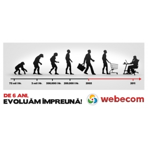 Agentia de eCommerce & marketing online WEBECOM implineste 6 ani de activitate!
