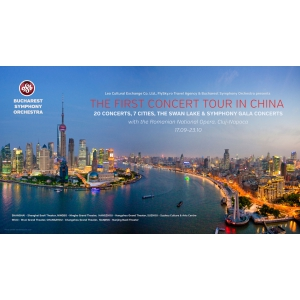 turneu. Orchestra Simfonică București: 20 de concerte, 7 orașe și un turneu extraordinar in China