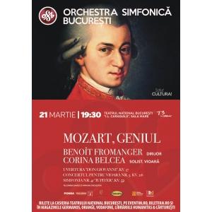 Corina Bernic. Orchestra Simfonică București prezintă concertul Mozart Geniul