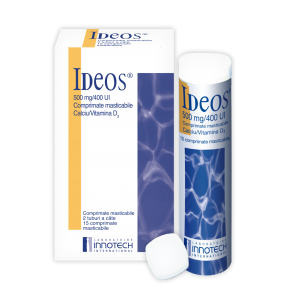 Corecţia deficitelor de calciu şi Vitamina D3 începe cu  IDEOS®