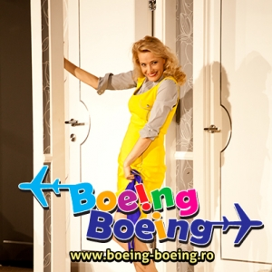 Boeing Boeing. Monica Davidescu in comedia Boeing Boeing