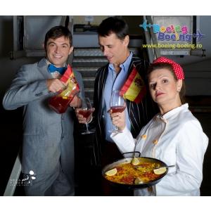 Paella, sangria si hohote de ras de Ziua Spaniei la comedia Boeing Boeing