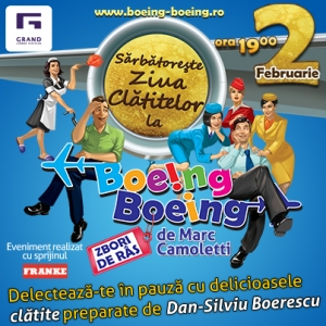 bucatarescu. Show culinar cu Dan-Silviu Boerescu a.k.a. Bucatarescu pe 2 februarie in pauza spectacolului Boeing Boeing