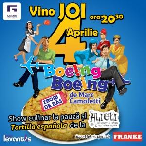 Tortilla spaniola asezonata cu hohote de ras la comedia Boeing Boeing de joi 4 aprilie