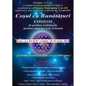 Expozitie cu vanzare produse alimentare traditionale, produse naturiste si de artizanat,, LA ELICE,, in Galati-19-22 iunie