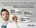 Ultimele doua zile cu demo-uri pe solutii Cisco de reducere a costurilor comunicationale, la ETA2U in Timisoara, Arad si Oradea