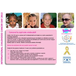 """diagnosticarea aurei. 15 Februarie - Ziua Internaţională a Copilului bolnav de Cancer (ICCD) se deruleaza in 2013 sub deviza """"Diagnosticarea precoce...face diferenţa"""""""