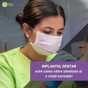 Clinica Orto Care se angajează, în con-tinuare, la performanţă în privinţa im-plant dentar sector 3