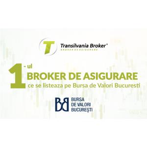 Transilvania Broker de Asigurare S.A. anunţă intenţia de a se lista pe Bursa de Valori Bucureşti