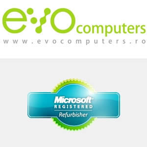 evocomputers. EVOcomputers.ro este acreditat Microsoft Registered Refurbisher