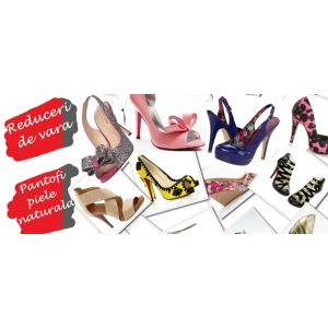 pantofi piele copii. Reduceri de vara la pantofi piele, pantofi Stiletto, pantofi cu platforma si sandale