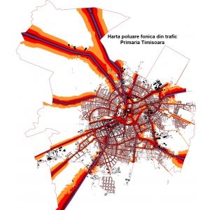nunti vechi. Harta de poluare fonica din trafic a Primariei Timisoara