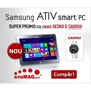 samsung ativ. Fiecare tableta Samsung ATIV iti aduce cadou un super ceas!
