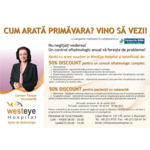 Reduceri de 50% pentru clientii Farmaciilor DONA la consultul oftalmologic