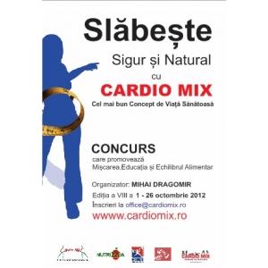 Concursul  SLĂBEȘTE SIGUR și NATURAL cu Cardio Mix– la a 8 a ediție