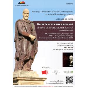 eveniment sculptura. Eveniment editorial: lansarea cărții   Dacii în sculptura romană. Studiu de iconografie antică