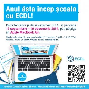 concurs, scoala, elevi, liceeni, ECDL, Apple, Macbook, competente digitale, IT, BAC, Bacalaureat