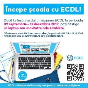 #BackToSchool. Incepe scoala cu ECDL. Concurs