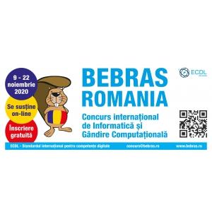BEBRAS - Cel mai mare eveniment online de programare creativa. Toti profesorii si elevii din Romania sunt invitati sa participe