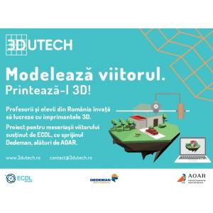 Campania EDUTECH continua in liceele din Romania.  Imprimantele 3D intra in functiune in alte 10 hub-uri de printare 3D.