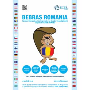 Cel mai mare eveniment de programare creativa BEBRAS International Challenge.Toti elevii din Romania sunt invitati sa participe