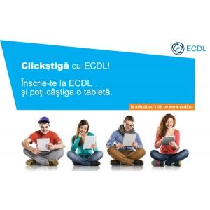 Clickştigă cu ECDL! Te înscrii la ECDL şi poţi fi premiat