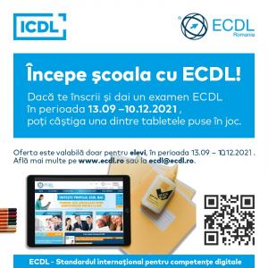 Competenţele digitale sunt esenţiale în educaţie. Începe şcoala cu ECDL şi poţi câştiga o tabletă!