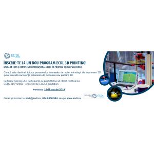 Curs cu certificare ECDL 3D Printing: 18-28 martie