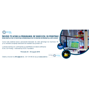 ecdl fou. 3D, 3D Printing, imprimare 3D, Modul ECDL, ECDL, endorsed, endorsed by, endorsed by ECDL Foundation, ECDL Foundation, curs, training, vara, certificare, certificare IT, competente IT, competente digitale IT&C, examen, curs intensiv, august, curs august, curs vara, curs vara 2016, vara 2016, Bucuresti, Politehnica, FDM, modelare 3D
