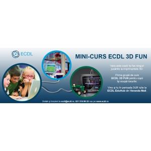 Primul curs de vara ECDL 3D FUN pentru copii isi ocupa locurile