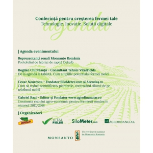 agenda conferinta pentru cresterea fermei tale