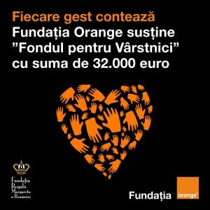 """Fiecare gest contează: Fundația Orange susține """"Fondul pentru Vârstnici"""""""