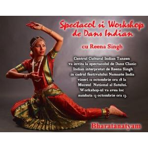 Spectacol si workshop de dans clasic indian