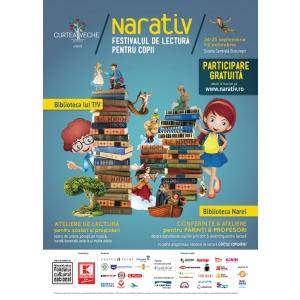 asociatia pro refugiu. Încep înscrierile la NARATIV - festivalul pentru copii  care promovează cititul de plăcere!