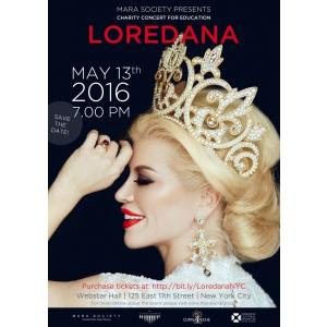 Loredana, concert caritabil la New York pentru educația copiilor din România