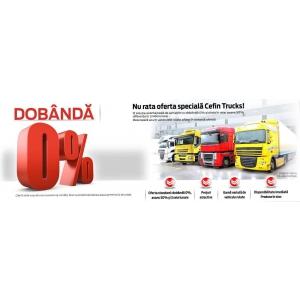 Camioane rulate cu plata în rate, dobândă 0%