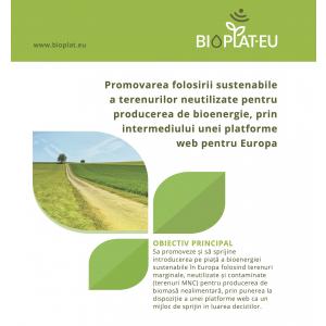 Webinar pe tema utilizării terenurilor marginale, neutilizate sau contaminate pentru cultivarea de biomasă pentru energie