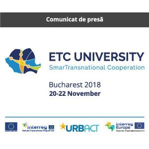 Universitatea Cooperării Teritoriale Europene 2018 SMARTRANSNATIONAL COOPERATION, București, 20-22 noiembrie 2018, Biblioteca Națională București