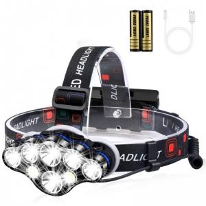 lanterna de cap. Lanterna de cap cu 8 led-uri