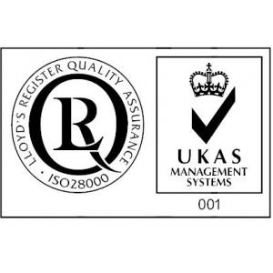 iso 28000  lant furnizori  supply. Logo LRQA ISO 28000 & Acreditare UKAS
