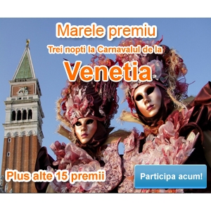 Infoturism. Concurs: Vacanta.Infoturism.ro te trimite la Venetia in Carnaval!