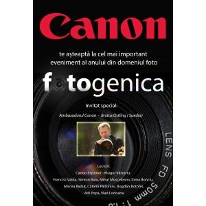 canon. Brutus Östling, ambasador Canon, vine la Fotogenica 2013.