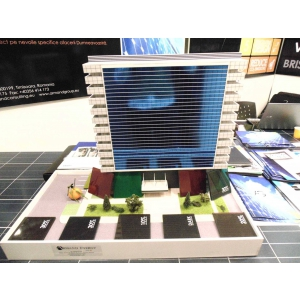 sticla fotovoltaica. Cladire - fatada sticla fotovoltaica