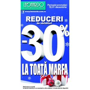 -30% Reducere la toata marfa! De sarbatori Leonardo iti ofera reduceri la toata marfa!