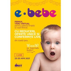 E-Bebe live, târgul virtual dedicat familiilor și copiilor din România are loc pe 23-25 Aprilie