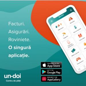 un-doi Centru de plăți a lansat aplicația de mobil pentru plăți facturi, încărcare prepay, asigurări și roviniete